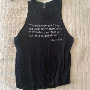 Oscar Wilde Quote Muscle Tee - M